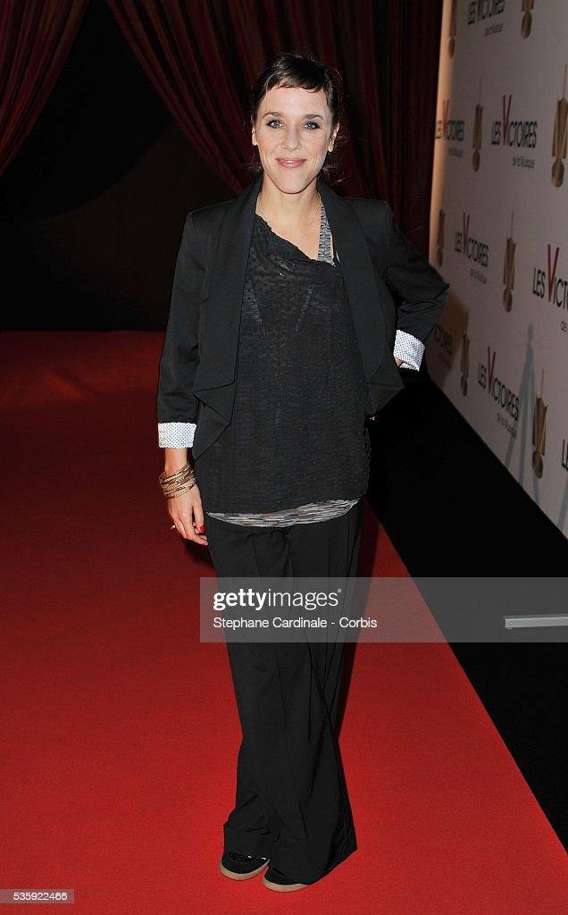 Zaz arrives for 'Les Victoires de La Musique 2011', at Palais des Congres in Paris.
