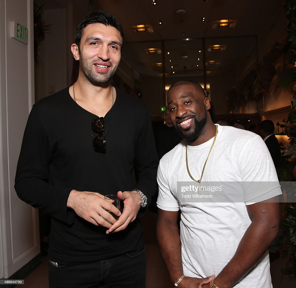 Zaza Pachulia and Raymond Felton attend a Del Toro Chandler Parsons Event at Saks Fifth Avenue Beverly Hills on October 30, 2015 in Beverly Hills, California.