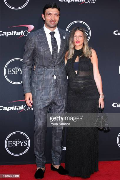 Zaza Pachulia and Tika Pachulia attend The 2017 ESPYS at Microsoft Theater on July 12 2017 in Los Angeles California