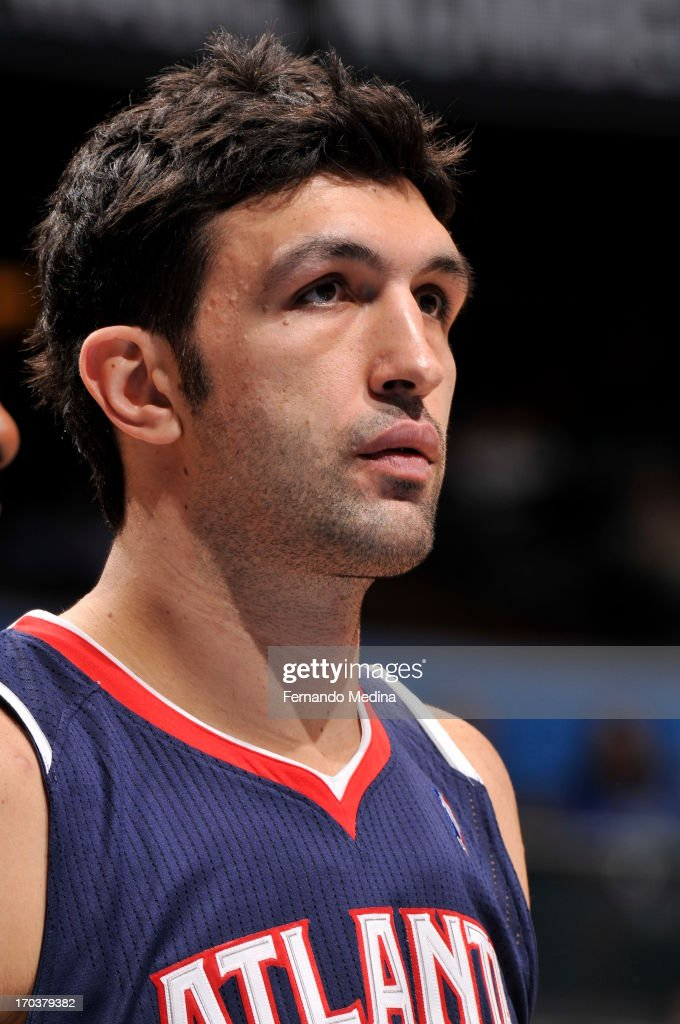 <a gi-track='captionPersonalityLinkClicked' href=/galleries/search?phrase=Zaza+Pachulia&family=editorial&specificpeople=202939 ng-click='$event.stopPropagation()'>Zaza Pachulia</a> #27 of the Atlanta Hawks during the game against the Orlando Magic on February 13, 2013 at Amway Center in Orlando, Florida.