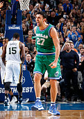 Zaza Pachulia of the Dallas Mavericks celebrates hitting a shot against the Utah Jazz on November 20 2015 at the American Airlines Center in Dallas...