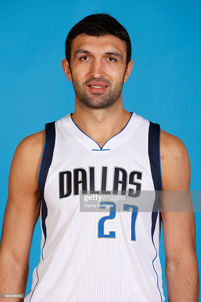 Zaza Pachulia of the Dallas Mavericks poses for a head shot during Media Day on September 28 2015 at the American Airlines Center in Dallas Texas...