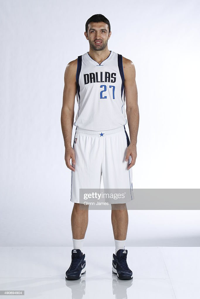 Zaza Pachulia of the Dallas Mavericks poses for a photo during media day on September 28 2015 at the American Airlines Center in Dallas Texas NOTE TO...