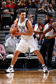 Zaza Pachulia of the Dallas Mavericks posts up against the Phoenix Suns on October 21 2015 at the American Airlines Center in Dallas Texas NOTE TO...