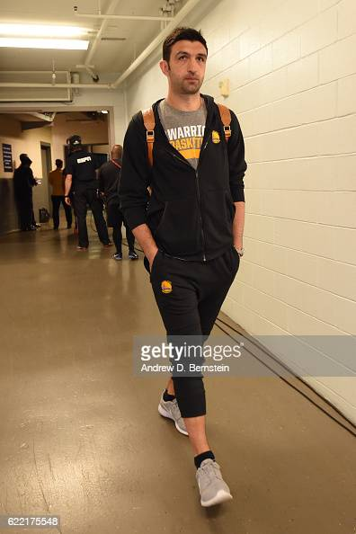 Zaza Pachulia of the Golden State Warriors arrives prior to the game against the New Orleans Pelicans at Smoothie King Center on October 28 2016 in...