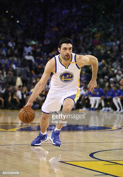 Zaza Pachulia of the Golden State Warriors in action against the Oklahoma City Thunder at ORACLE Arena on January 18 2017 in Oakland California NOTE...
