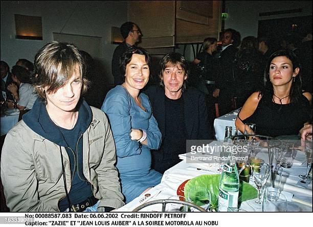 Zazie and 'Jean Louis Auber' Motorola party at 'Nobu' in Paris in 2002
