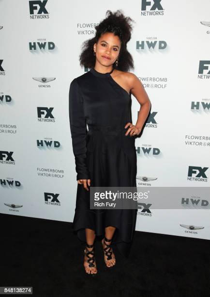 Zazie Beetz attends FX and Vanity Fair Emmy Celebration at Craft on September 16 2017 in Century City California