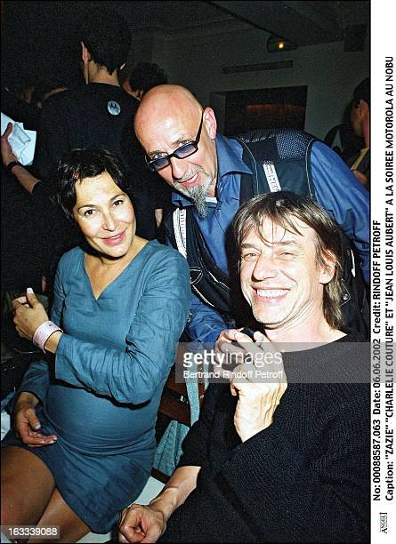 Zazie 'Charlelie Couture' and 'Jean Louis Aubert' Motorola party at 'Nobu' in Paris in 2002