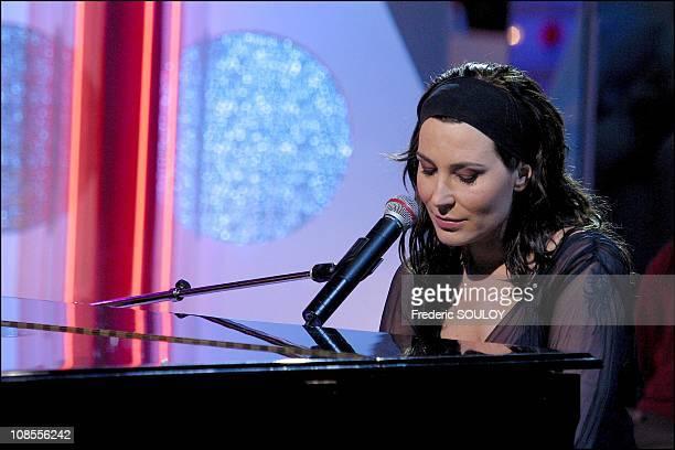Zazie singer in Paris France on October 10 2002