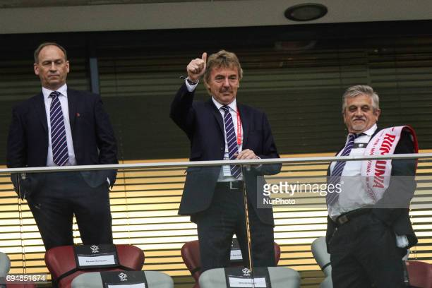 Zbigniew Boniek during the FIFA World Cup 2018 qualification football match between Poland and Romania in Warsaw Poland on June 10 2017