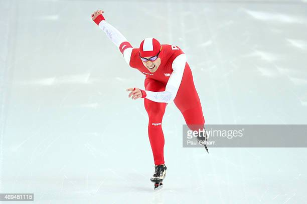 Zbigniew Brodka of Poland competes during the Men's 1500m Speed Skating event on day 8 of the Sochi 2014 Winter Olympics at Adler Arena Skating...