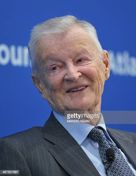 Zbigniew Brzezinski former national security advisor speaks at the Toward a Europe Whole and Free conference at the Atlantic Council on April 29 2014...