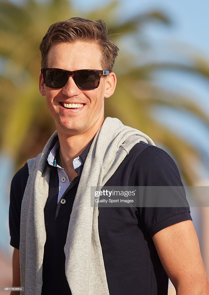Zdenek Stybar of Czech Republic and Etixx-Quick Step Pro Cycling Team looks on during the Etixx-Quick Step Pro Cycling Team presentation on January 8, 2015 in Calpe , Spain.