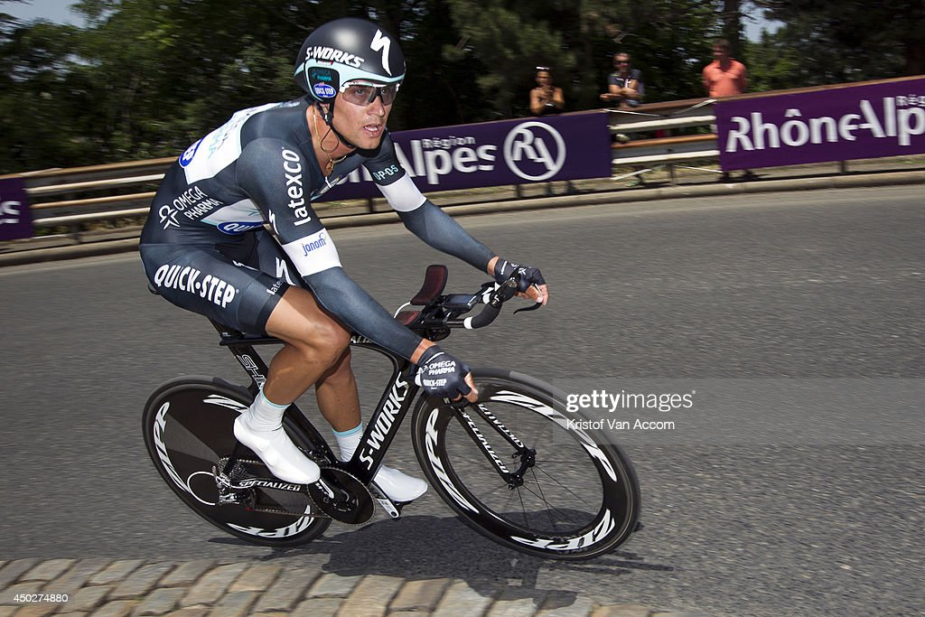 Zdenek Stybar of the Czech Republic and Team Omega Pharma - Quick-Step in action during the first stage, an individual time trial, of the Criterium du Dauphine, on June 8, 2014 in Lyon, France.