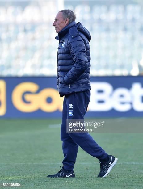Zdenek Zeman head coach of Pescara Calcio after the Serie A match between Pescara Calcio and Udinese Calcio at Adriatico Stadium on March 12 2017 in...