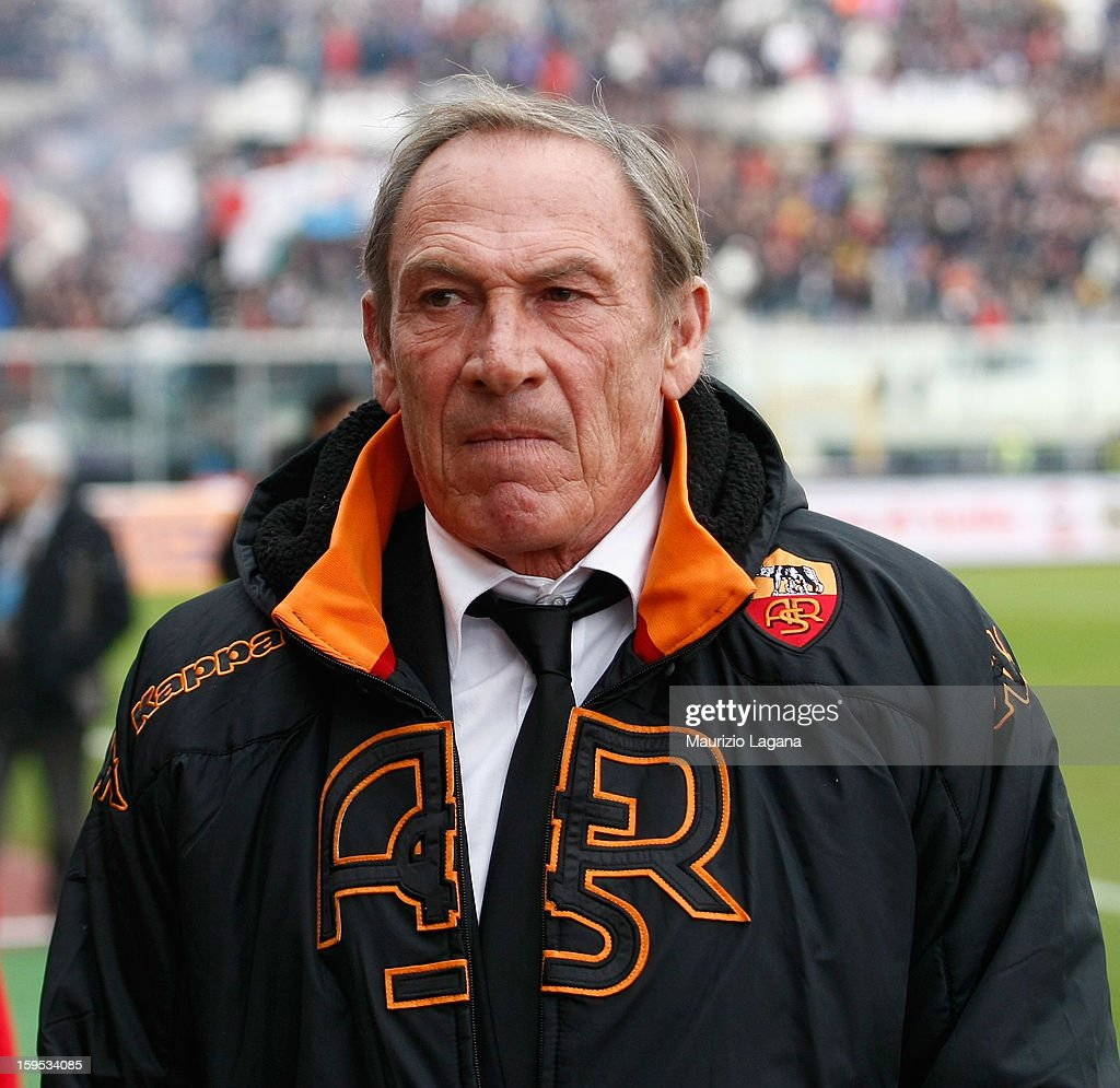 Zdenek Zeman head coach of Roma during the Serie A match between Calcio Catania and AS Roma at Stadio Angelo Massimino on January 13, 2013 in Catania, Italy.