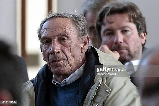 Zdenek Zeman manager of Lugano attends the 'Panchina D'oro season 20142015'at Coverciano on March 7 2016 in Florence Italy