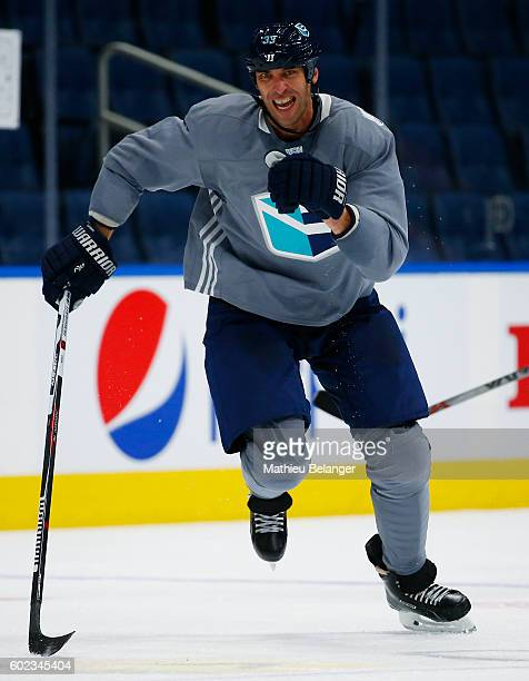 Zdeno Chara of Team Europe skates during a practice at the Centre Videotron on September 7 2016 in Quebec City Quebec Canada