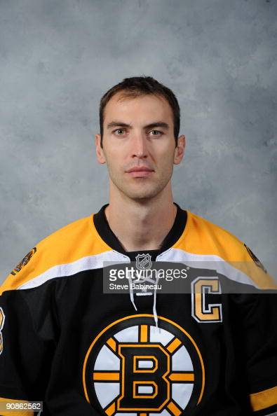 Zdeno Chara of the Boston Bruins poses for his official headshot for the 20092010 NHL season