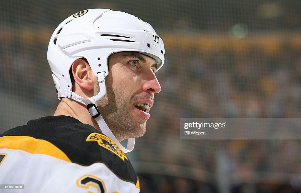 Zdeno Chara #33 of the Boston Bruins skates against the Buffalo Sabres on February 10, 2013 at the First Niagara Center in Buffalo, New York.
