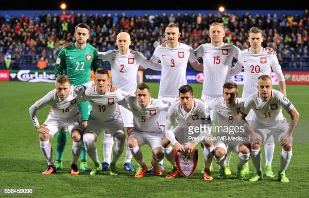 zdjecie grupoweFootball 'FIFA 2018 World Cup Qualifying game between Montenegro and Poland'team photo Lukasz Fabianski Michal Pazdan Artur...
