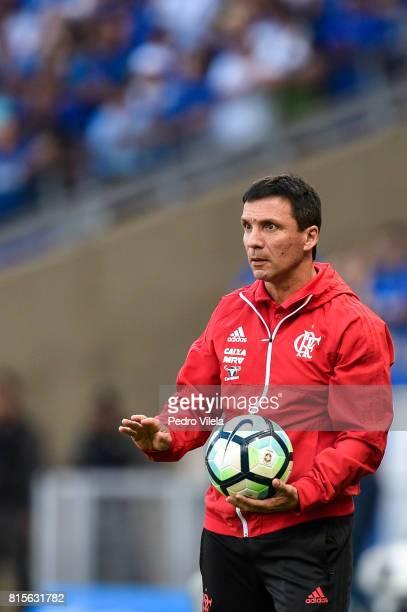 Ze Ricardo coach of Flamengo a match between Cruzeiro and Flamengo as part of Brasileirao Series A 2017 at Mineirao stadium on July 16 2017 in Belo...