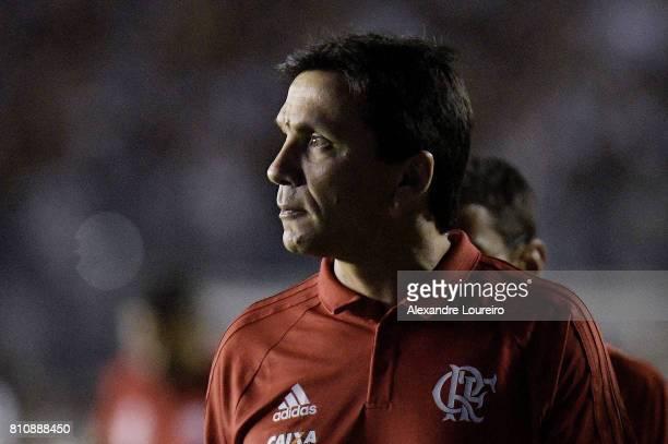 Ze Ricardo head coachof Flamengo in action during the match between Vasco da Gama and Flamengo as part of Brasileirao Series A 2017 at Sao Januario...