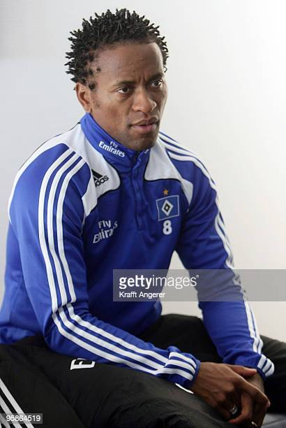 Ze Roberto poses on board during the hand over of the A380 to the Emirates airline on January 18 2010 in Hamburg GermanyThe world's largest passenger...