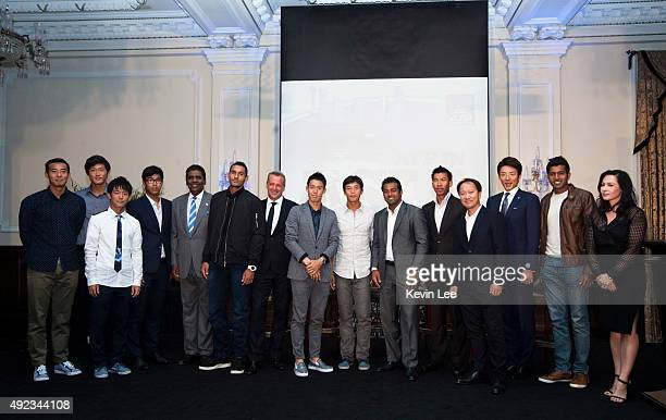 Ze Zhang Zhiehen Zhang Yoshihito Nishioka Hyeon Chung Vijay Amritraj Nick Kyryios Chris Kermode ATP Executive Chairman President Kei Nishikori...