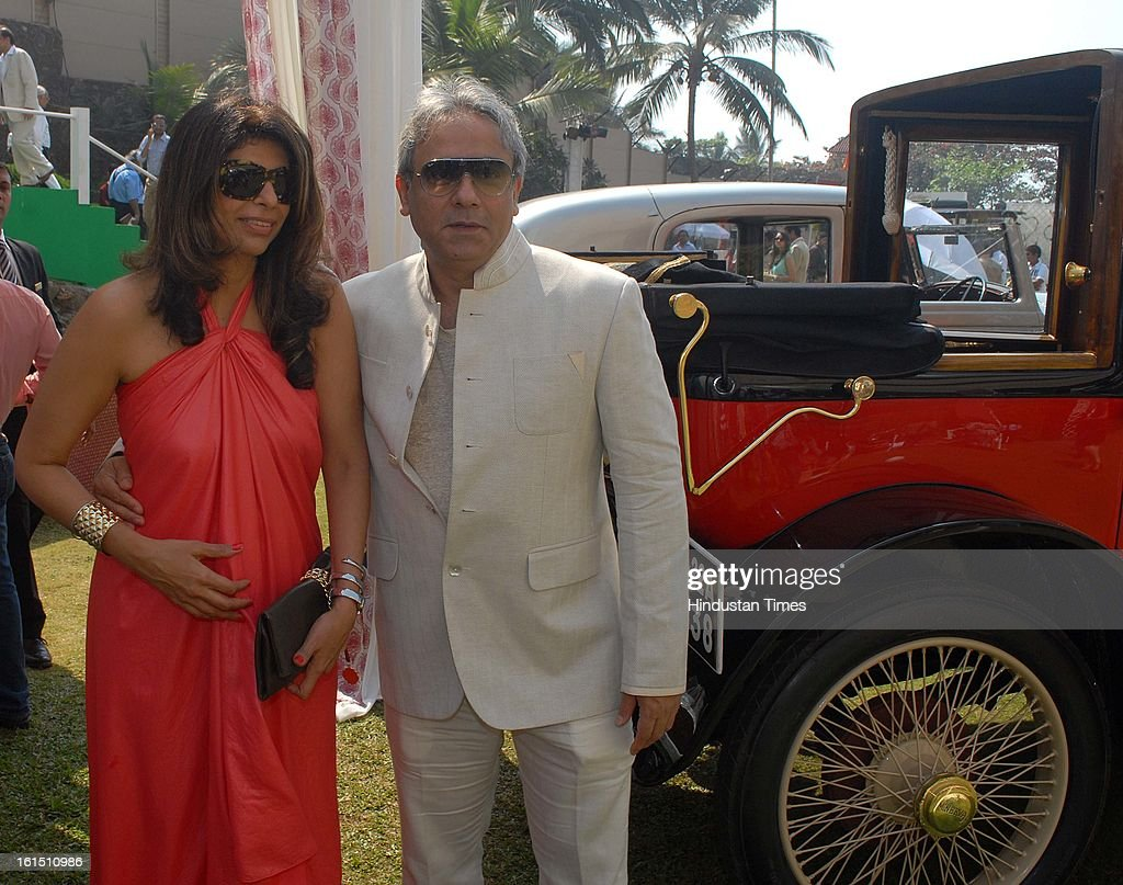 Zeba Kohli and Rajesh Kohli during Third Cartier Travel With Style Concours D'Elegance Vintage car show at 2013 Taj Lands End on February 10, 2013 in Mumbai, India.