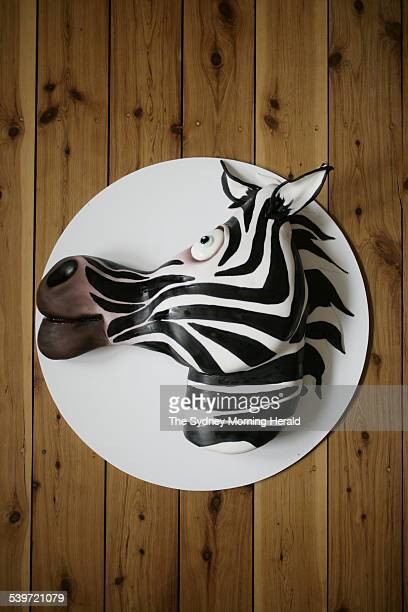 Zebra cake by Judy Adamson 26 September 2005 SMH Good Living Picture by STEPHEN BACCON