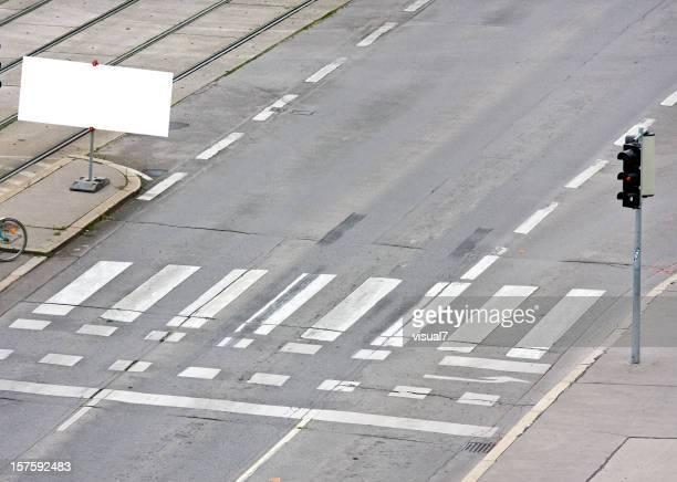 Zebrastreifen, billboard Konzept