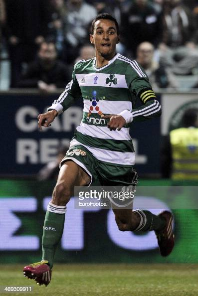 Zeca of Panathinaikos in action during the Greek Superleague between Panathinaikos and PAOK at the Apostolos Nikolaidis Stadium on February 9 2014 in...