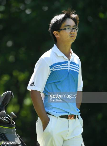 Zecheng Dou waits to play the fouth hole during the second round of the Webcom Tour RustOleum Championship at Ivanhoe Club on June 9 2017 in Ivanhoe...