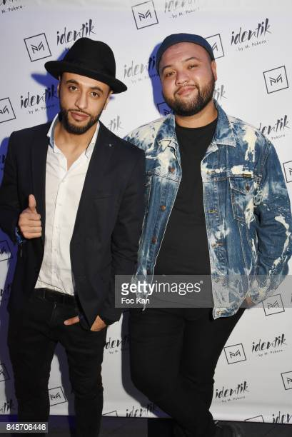 Zed Dancer and Raphal Yem attend 'Identik' by M Pokora Launch Party at Duplex Club on September 17 2017 in Paris France
