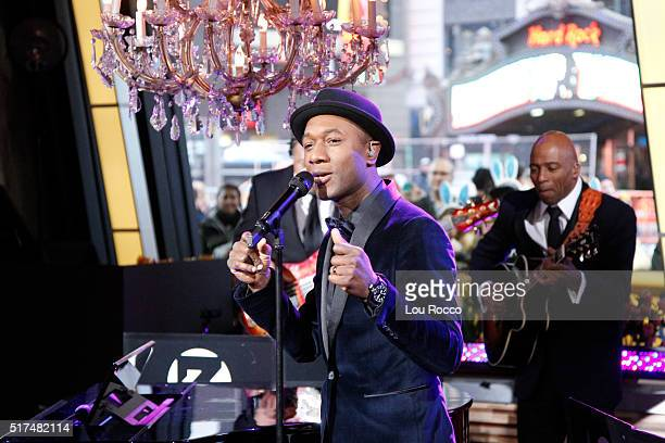 AMERICA Zedd Aloe Blacc perform live on GOOD MORNING AMERICA 3/25/16 airing on the ABC Television Network ZEDD ALOE