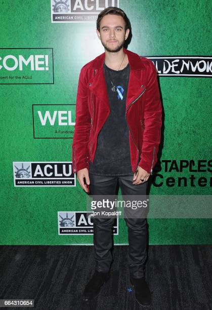 Zedd arrives at Zedd Presents WELCOME Fundraising Concert Benefiting The ACLU at Staples Center on April 3 2017 in Los Angeles California