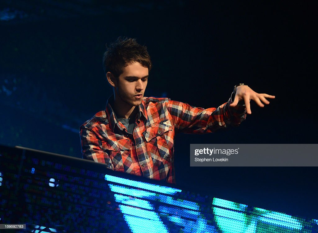 DJ <a gi-track='captionPersonalityLinkClicked' href=/galleries/search?phrase=Zedd+-+Musician&family=editorial&specificpeople=5830568 ng-click='$event.stopPropagation()'>Zedd</a> performs at MTV's 2013 'Artists To Watch' Concert at Highline Ballroom on January 16, 2013 in New York City.