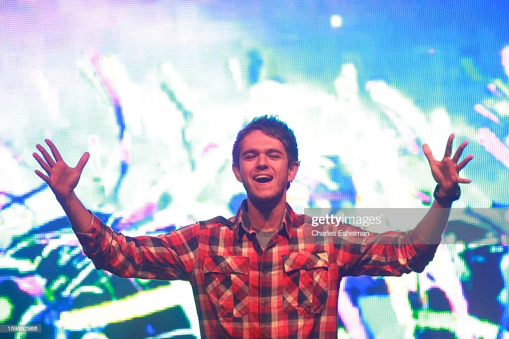 Zedd performs during the 2013 MTV Artist To Watch Concert at Highline Ballroom on January 16, 2013 in New York City.