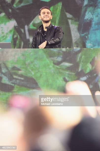 Zedd performs on ABC's 'Good Morning America' at Rumsey Playfield Central Park on July 18 2014 in New York City