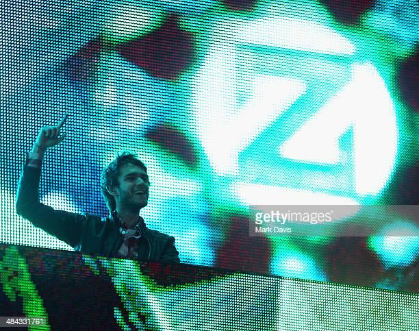 Zedd performs onstage during day 1 of the 2014 Coachella Valley Music Arts Festival at the Empire Polo Club on April 11 2014 in Indio California