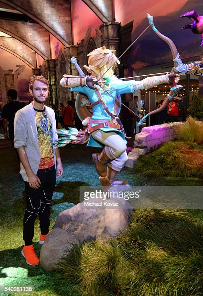Zedd visits the Nintendo booth at the 2016 E3 Gaming Convention at Los Angeles Convention Center on June 14 2016 in Los Angeles CA