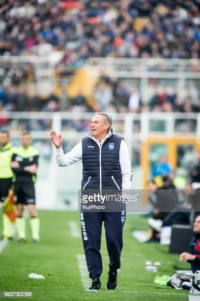 Zedenek Zeman during the Italian Serie A football match Pescara vs Milan on April 02 in Pescara Italy