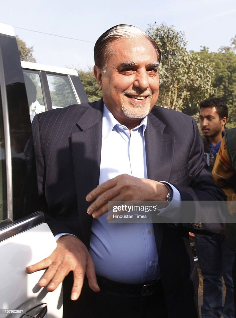 Zee Group Chairman Subhash Chandra appeared before police for questioning in connection with the alleged Rs 100 crore extortion bid by two Zee Editors from Congress MP Naveen Jindal's company for not airing news, on December 8, 2012 in New Delhi, India.