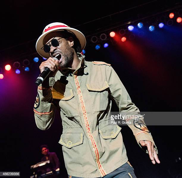 Zeebo Steele of Thievery Corporation performs onstage at The Greek Theatre on September 27 2014 in Los Angeles California