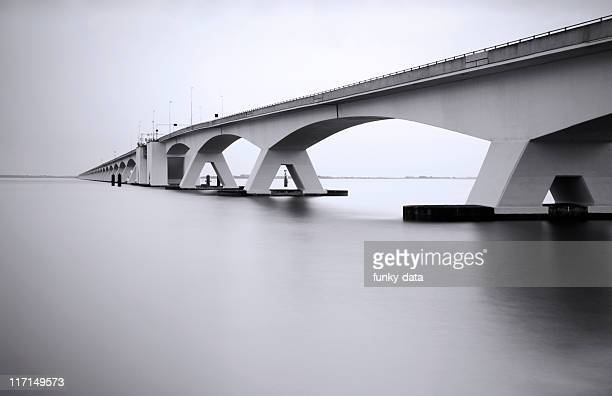 Zeeland Bridge in long exposure