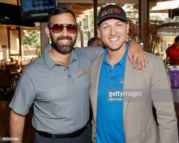 Zeeshawn Zia and Dustin Tillman attend the Swing Fore The Vets Charity Golf Tournament on October 19 2017 in Rancho Santa Margarita California