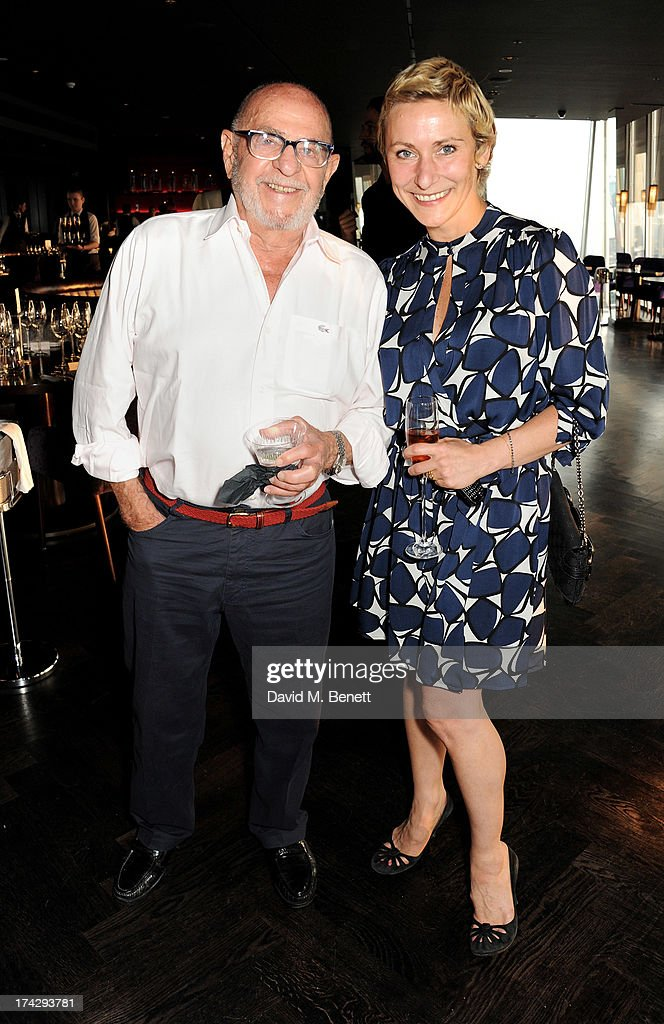Zeev Aram (L) and Anoushka Menzies attend the London Design Festival dinner hosted by Ben Evans at Aqua Shard on July 23, 2013 in London, England.