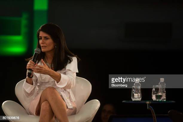 Zeina Latif chief economist of XP Investments speaks during the UNICA Ethanol Summit 2017 in Sao Paulo Brazil on Monday June 26 2017 The Ethanol...
